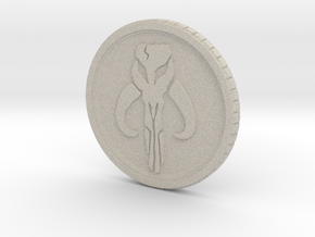Star wars Sabacc Solo Mandalorian Bounty coin cred in Natural Sandstone
