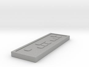 Star wars Sabacc Standard credit chip in Aluminum