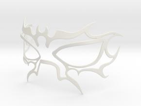 Fire Mask in White Natural Versatile Plastic