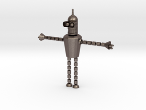 Bender Toy in Polished Bronzed-Silver Steel: Small