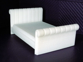 1:48 Tufted Bed (Queen) in White Natural Versatile Plastic