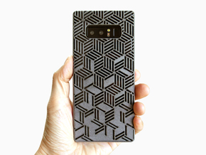 Samsung Galaxy Note 8 case_Rhombus in Gray PA12
