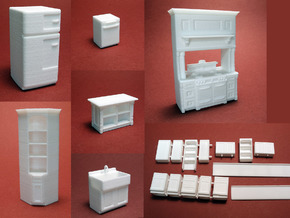 1:48 Vintage Farmhouse Kitchen in White Strong & Flexible