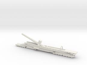 Sk l/45 38cm max e 1/200 Railway artillery ww1 in White Natural Versatile Plastic