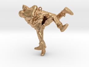 Swiss wrestling - 60mm high in Natural Bronze