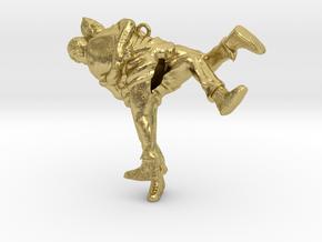 Swiss wrestling - 50mm high in Natural Brass