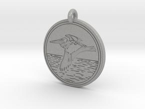 Brown Pelican Animal Totem Pendant in Aluminum