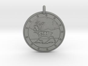 Caribou Animal Totem Pendant in Gray PA12