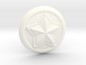 Poppy Star Guardian Pin in White Processed Versatile Plastic