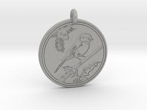 Chickadee Animal Totem Pendant in Aluminum