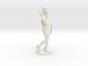 Scanned pretty Girl - 6CM High in White Natural Versatile Plastic