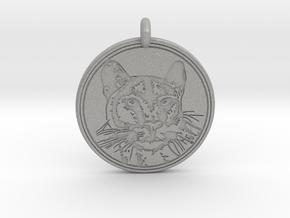 Cougar Animal Totem Pendant in Aluminum