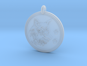 Coyote Animal Totem Pendant  in Smooth Fine Detail Plastic