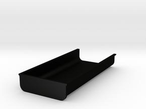 Flache_Mulde_ohneSpannten_H=16,6 in Matte Black Steel