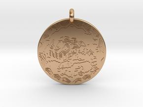 Desert Tortoise Animal Totem Pendant in Polished Bronze