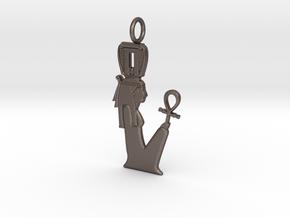 Nehmetaway amulet in Polished Bronzed-Silver Steel