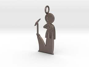 Amun-Ra(m) amulet in Polished Bronzed-Silver Steel