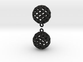 Star Earring in Black Natural Versatile Plastic