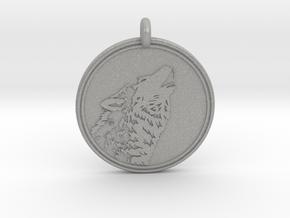 Gray wolf Animal totem Pendant 2 in Aluminum