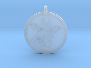 Giraffe Animal Totem Pendant 2 in Smooth Fine Detail Plastic