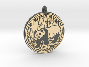 Giant Panda Animal Totem Pendant in Glossy Full Color Sandstone
