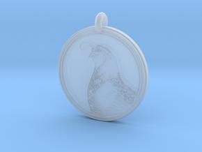 Gambels Quail Animal Totem Pendant in Smooth Fine Detail Plastic