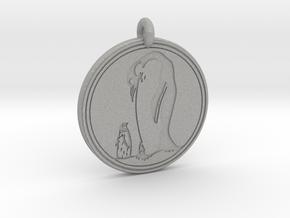 Emperor Penguin Animal Totem Pendant in Aluminum