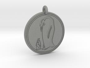 Emperor Penguin Animal Totem Pendant in Gray PA12