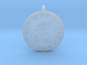 Elk Animal Totem Pendant in Smooth Fine Detail Plastic