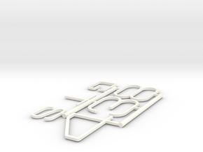 348 GTS BADGE INSERTS in White Processed Versatile Plastic