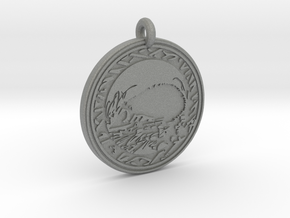 Hedgehog Animal Totem Pendant in Gray PA12
