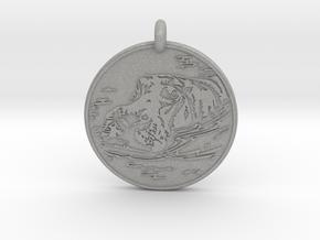 Hippopotamus Animal Totem Pendant in Aluminum