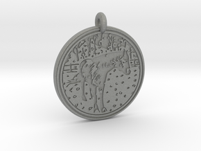 Horse Animal Totem Pendant in Gray PA12