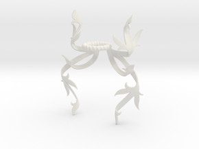 Dragonfly Mantling (Symmetrical) in White Natural Versatile Plastic: Small