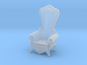 Printle Thing Baroque Chair 1/24 in Smooth Fine Detail Plastic