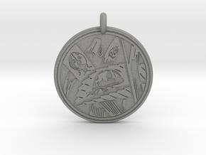 Lady bug Animal Totem Pendant in Gray PA12
