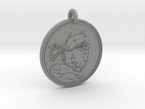 Pika Animal Totem Pendant in Gray PA12
