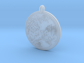 Lioness Animal Totem Pendant in Smooth Fine Detail Plastic
