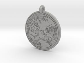 Lioness Animal Totem Pendant in Aluminum
