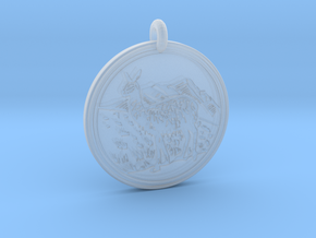 Llama Animal Totem Pendant in Smooth Fine Detail Plastic