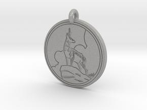 Pronghorn Antelope Animal Totem Pendant in Aluminum