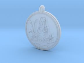 Prairie Dog Animal Totem Pendant in Smooth Fine Detail Plastic