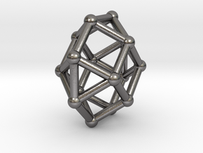 0798 J28 Square Orthobicupola (a=1cm) #2 in Polished Nickel Steel