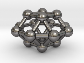0799 J28 Square Orthobicupola (a=1cm) #3 in Polished Nickel Steel