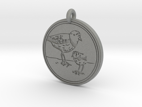 Piping Plover Animal Totem Pendant in Gray Professional Plastic