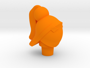 Female Acroyear Head in Orange Processed Versatile Plastic