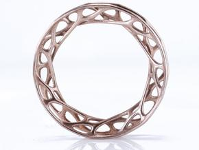 Convolution Bangle in Polished Bronzed Silver Steel: Medium