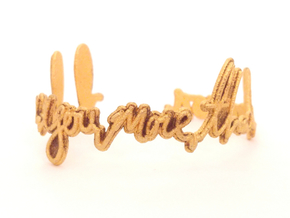 I Love You More Than Bacon Bracelet in Polished Gold Steel