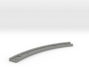 Motorway 4 Curve (B) with cars 1:1000 scale in Gray Professional Plastic