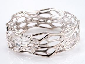 Morph Bangle sz M in Polished Silver